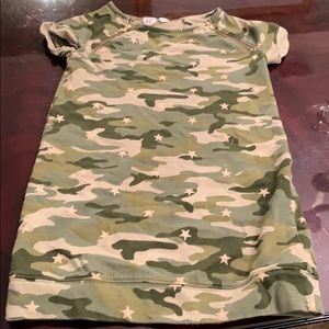 EUC Gap kids camo dress size 8